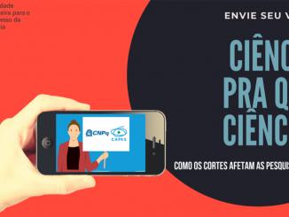 Arte gráfica do projeto Ciência para que Ciência da SBPC divulgada no site Jornal da Ciência.