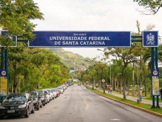 Entrada da UFSC pelo bairro Trindade.