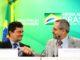 Os ministros da Justiça e Segurança Pública, Sergio Moro, e da Educação, Abraham Weintraub, durante o lançamento do Programa Nacional de Cooperação Acadêmica (Procad) em Segurança Pública e Ciências Forenses