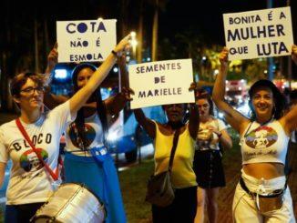 Em 2019, marcha de mulheres lotou Centro de Florianópolis(Foto: Felipe Carneiro)