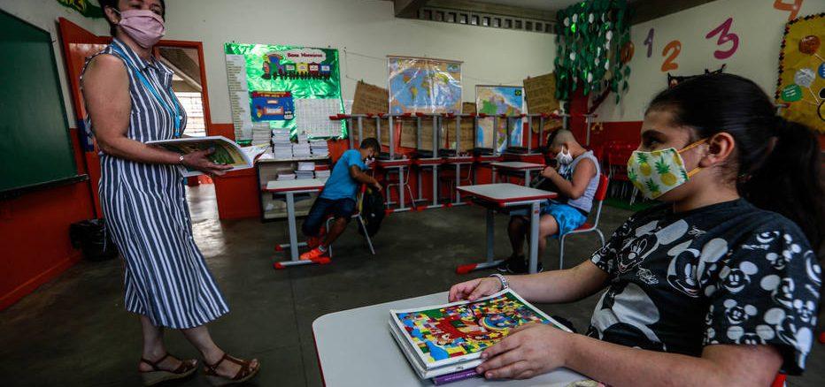 Aula presencial retorno pandemia. Foto: Werther Santana/ Estadão