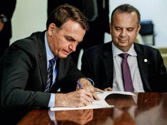 Bolsonaro e Rogério Marinho. Foto: Carolina Antunes/PR