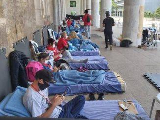 Professores do Paraná em greve de fome. Foto: APP Sindicato / Divulgação