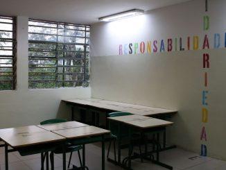 Intervenções artísticas realizadas pelo projeto Escola Criativa, promovido pelo Instituto Choque Cultural, na Escola Municipal de Ensino Fundamental Presidente Campos Salles, na Cidade Nova Heliópolis, zona sul. Foto: Rovena Rosa/Agência Brasil