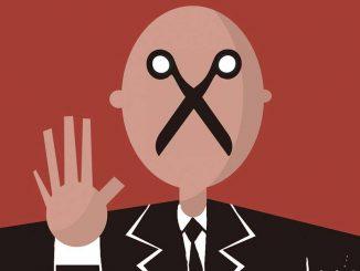 Censura. Ilustração: Bruno Aziz