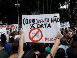 Protestos contra os cortes. Foto: Reprodução