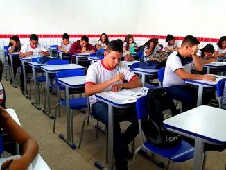 Alunos estudantes na sala de aula da escola. Foto: Secretaria de Educação do Maranhão/Divulgação