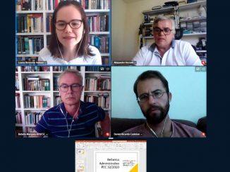 Reunião no CCB discute Reforma Administrativa, com particiação de Bebeto e Luana. Foto: reprodução