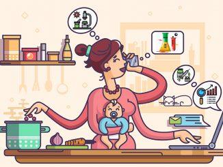 Mães pesquisadoras – Arte sobre Ilustração Kit8 d.o.o./Adobe Stock e icones Flaticon .